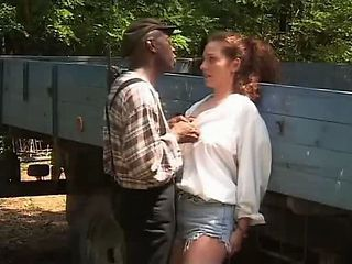 European Interracial Outdoor Teen