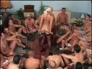 Bukkake Gangbang MILF Stockings Stripper