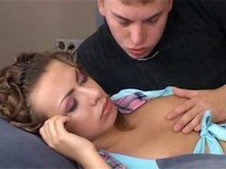 Sleeping Beauty Chick-Cum In Mouth