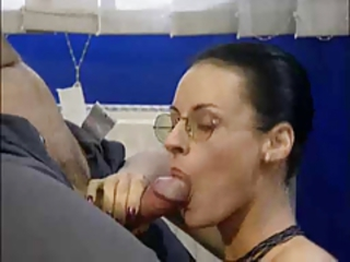 Amazing Blowjob Cute Glasses MILF Office Secretary