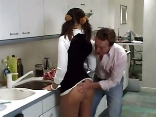 Gorgeous Milf Fucked In The Kitchen !