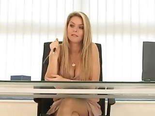 Amazing Long hair MILF Office