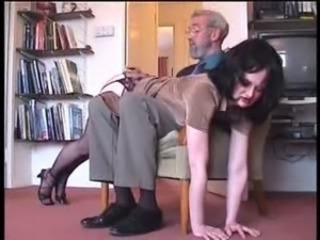 Old man spank a very pretty young girl xLx