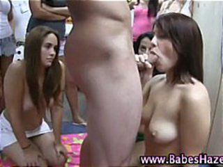 College amateur teen initiation blowjob