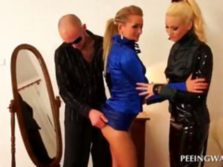 Latex MILF Pornstar Threesome