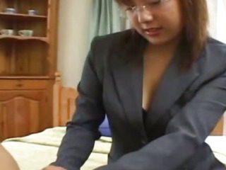 Asian Bus Glasses Teen