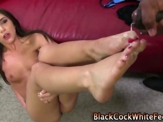 Cumshot Feet Interracial Teen
