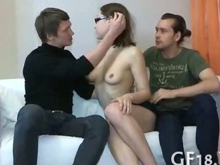Glasses Russian Teen Threesome