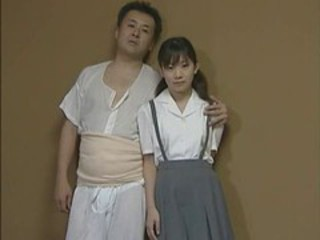 Asian Daddy Daughter Old and Young Teen Uniform