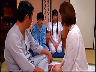 Asian Daughter Family Japanese Mom Old and Young Sister Teen