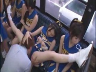 Bus Cheerleader Japanese Licking Teen Uniform