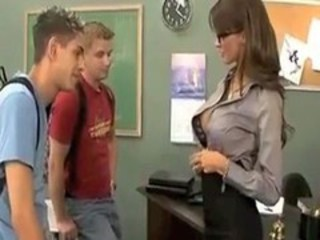 Glasses School Student Teacher Threesome