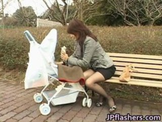 Japanese Mom Public Stockings