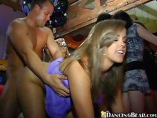 Wild Gangbang Action In Club
