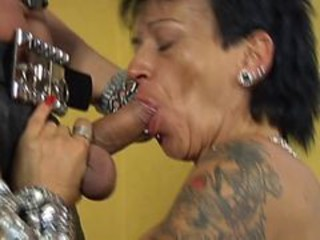 Blowjob Goth Mature Piercing Tattoo