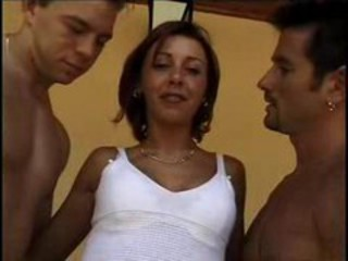 Hungarian Brunette Gets Double Penetrate...