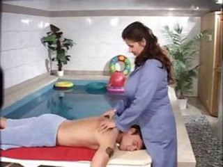 Big Tits Massage MILF Pool