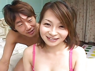 Shapely Japanese Gets Massive Creampie