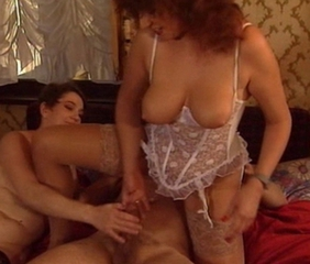 two moms and the older guy in threesome