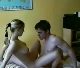 Cute Big Titted Blonde rides that dick