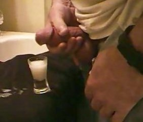 Huge Male Solo Cumshot (FILLS a one ounce Shotglass)