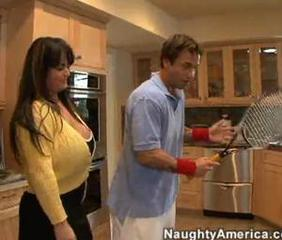 Big Tits Chubby Kitchen Mature MILF