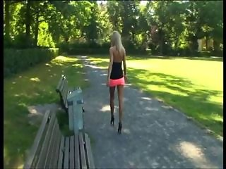 Amazing Legs Outdoor Public Teen