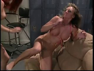 Bitches fighting in the locker room