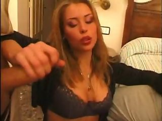 slut with big breasts takes on two cocks