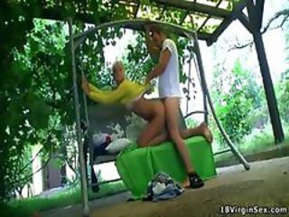 Doggystyle First Time Outdoor Teen Virgin
