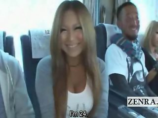 Bizarre blowjob greetings makes its medley on a kinky Japanese bus heading towards a weekend of lascivious debauchery and now its time for a tan and busty gyaru to give head but not before the host of the events ogles at her magnificent cup size