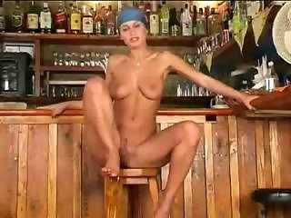 Veronica is the hottest barmaid