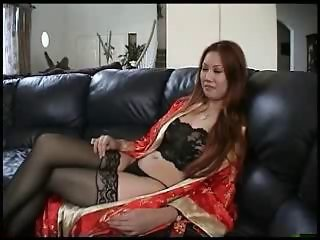 Asian Babe Chinese Cute Lingerie Stockings
