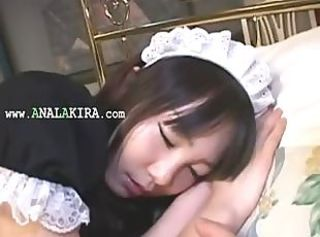 Asian Cute Japanese Maid Teen Uniform