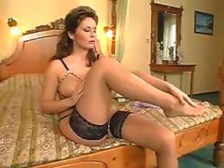 Amazing Cute Legs Lingerie MILF Stockings