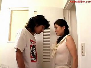 Asian MILF Mom Old and Young Toilet