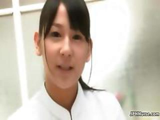 Cute Asian Nurse Gets Horny Talking