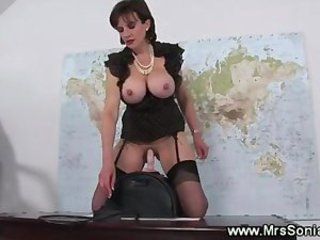 Big Tits British European Machine MILF Stockings