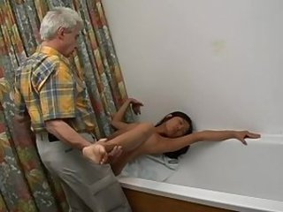 Asian Bathroom Daddy Korean Old and Young Teen