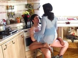 Kitchen Lingerie Riding Teen