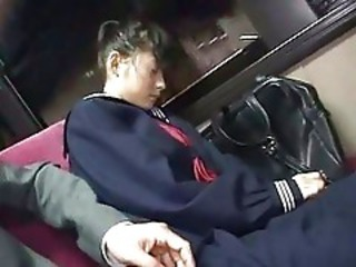 Bus Sleeping Teen