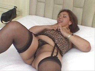 BBW Brazilian Latina Lingerie MILF Stockings