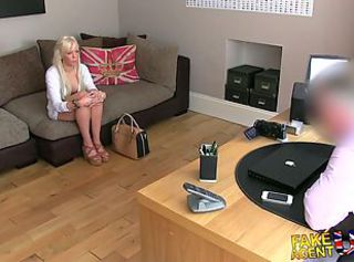 FakeAgentUK Hot blonde young amateur tricked in casting