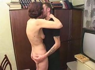 Kissing Mature Old and Young Student Teacher