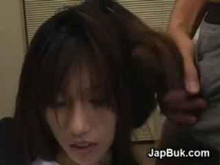 Weird Japanese hair bukkake