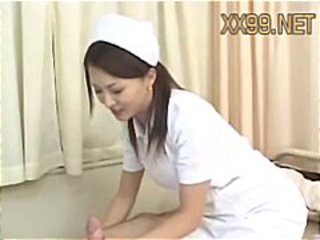Asian Babe Handjob Japanese Nurse Small cock Uniform