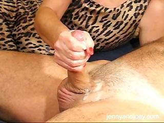 CFNM Handjob With Cumplay