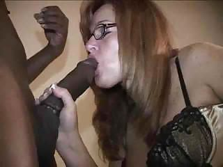 Amateur Big cock Blowjob Cuckold Glasses Interracial MILF Wife