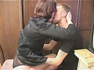 Naughty Student Makes Up For Missed Test By Testing His Mature Teachers Snatch