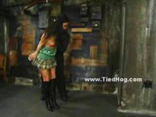 Brunette submits to violent master spanking her and giving her pain in extreme bdsm video